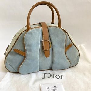 Dior Denim Double Saddle Bowler Bag